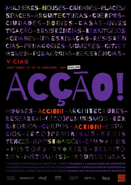 V CIAG 2021 - V Congresso Internacional Arquitectura e Género | ACCIÓN. Feminismos y la espacialización de las resistencias